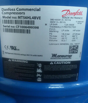 Block compressor Danfoss MT56