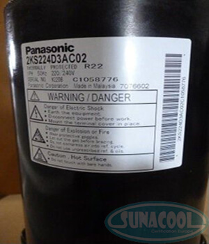 Block Panasonic Compressor 2KS224D3AC02